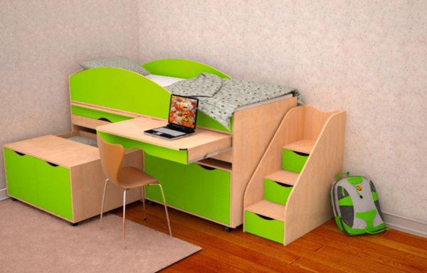 Кровать-чердак Колибри 2